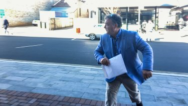 One Nation senator Rod Culleton arrives at Armidale court in August.