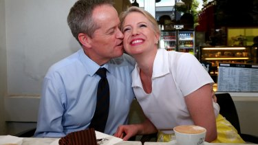 Not content to subject his wife, Chloe, to public displays of affection, Bill Shorten has wheeled her out for fundraising purposes too.