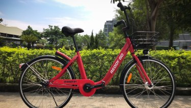 The red Reddy Go bike model that will be rolled out in Sydney.