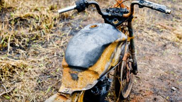 The Kaiowa say farmers burnt their motorbikes as part of the violent effort to expel them from Yvu Farm.