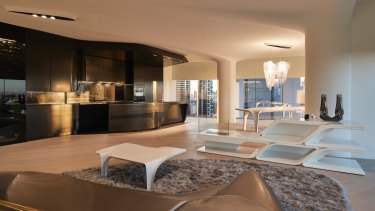 Display suite for the Mayfair apartments designed by Zaha Hadid Architects.