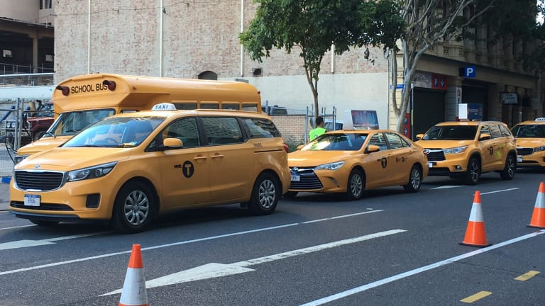 New York City taxis have arrived in Brisbane for the Thor:Ragnarok filming.
