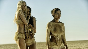 Abbey Lee (left) in her first major film role, <i>Mad Max: Fury Road</i>, which was released in 2015.