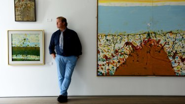 Tim Olsen, who represents the work of his father John Olsen, pictured at his gallery in 2015.