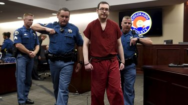 James Holmes leaves court to begin his 12 life sentences in jail.