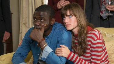 Good reason to be nervous: Daniel Kaluuya and Allison Williams play a couple on a weekend family visit.