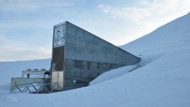 The seed vault was made to protect Earth's crop seeds against the worst cataclysms of nuclear war and disease.