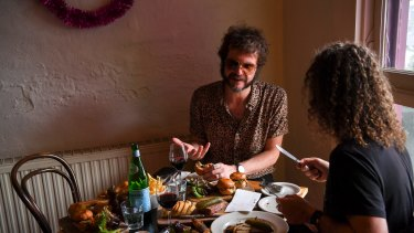 Australian singer-songwriter and musician Henry Wagons at Jimmy Watson's Wine Bar.