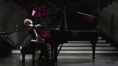 Classical pianist Alexander Gavrylyuk in full flight.
