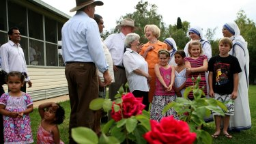 In 2008, the then governor-general toured the Murray-Darling basin. Dame Quentin talked with locals at a reception in Bourke.