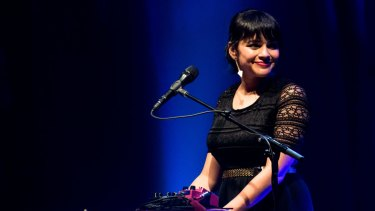 "Norah Jones performing at Sydney's State Theatre in 2013. ""The goal is always to get out of my own head,"" she says."