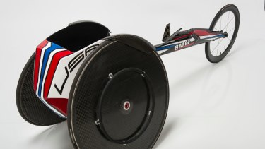 Racing Wheelchair, 2016; designed and manufactured by Designworks Los Angeles Studio.