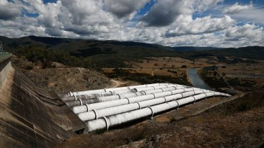 The Snowy Hydro Scheme at Talbingo, NSW.