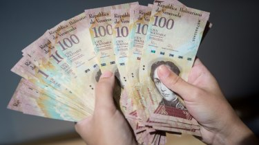 Venezuelan President Nicolas Maduro ordered the central bank to withdraw all 100-bolivar bills from circulation a year ago.