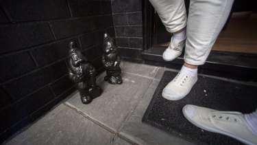 Even the garden gnomes have gone to the dark side.