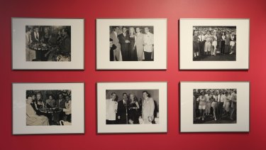 Photographs of Marilyn Monroe loaned by Albury businessman Colin Glassborow for the Murray Art Museum Albury exhibition.