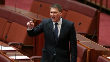 Bon voyage: Senator Cory Bernardi is New York-bound for a three-month secondment at the United Nations.