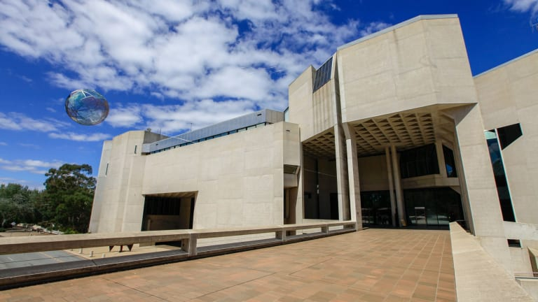 News: Generic image of the National Gallery of Australia, in Parkes, Canberra. 5th of February 2014. Canberra Times Photograph by Katherine Griffiths