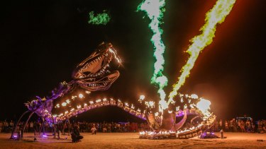 The Serpent Mother is a 50-metre mechanical reptile that spews multi-coloured flames towards the heavens.