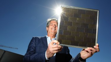 UNSW Professor Martin Green, who is leading a research project seeking to increase the amount of the sun's energy converted to electricity via solar panels.