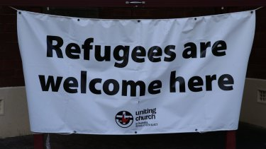 This sign was put up at Wesley Uniting church in East Maitland, New South Wales.
