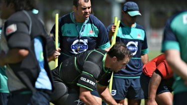 Master and commander: Michael Cheika at Waratahs training before taking on the Chiefs.