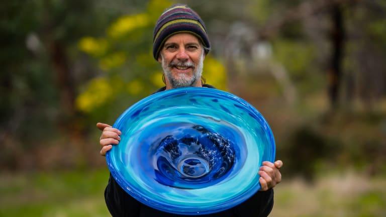 Pomonal glass artist James McMurtrie.