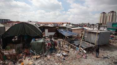 Residents have been living in tents and shelters donated by political parties
