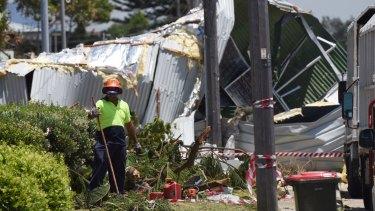 Destruction in Kurnell following wild storms in December.