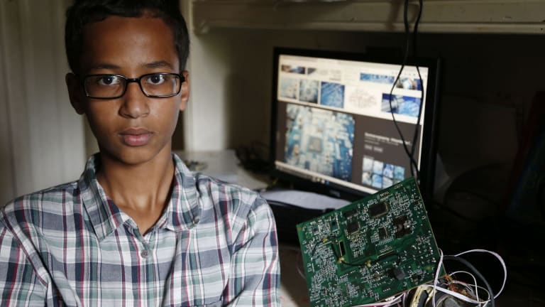 """""""It made me feel like I wasn't human"""": Ahmed Mohamed at his home in Irving, Texas."""