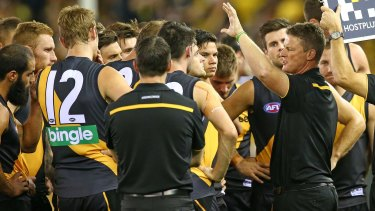 Damien Hardwick attempts to get his team back on track against Adelaide on Saturday.