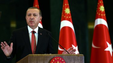 Not seeking peace ... Turkish President Recep Tayyip Erdogan promised on Thursday the Kurdistan Workers Party (PKK) fighters would be 'annihilated'.