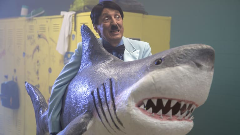 Recurring villain: Even though it's set in the 1980s, the second season of <i>Danger 5</i> features Adolf Hitler.