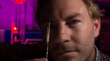Biomedical engineer Nick Opie is part of the team working on the 'bionic spine'.