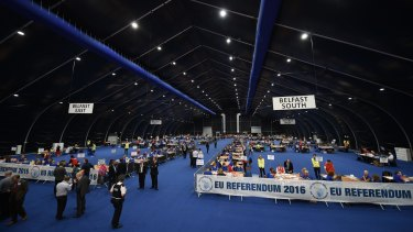 The Northern Ireland count was for Remain, in sharp contrast to the nationwide result.