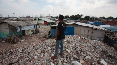 Some residents of Kampung Akuarium, in North Jakarta, refused to leave when evicted in April.