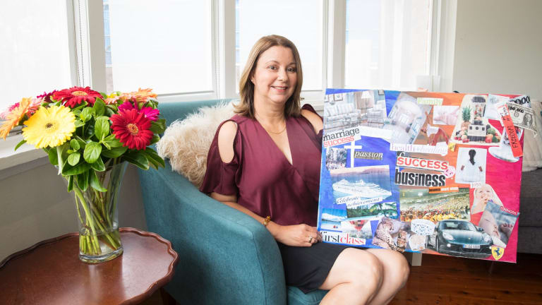 Brigitte Perik uses a vision board to figure out what she wants and set goals.