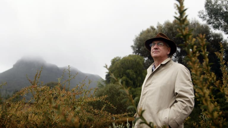 Allan Myers on his Dunkeld property near Mount Sturgeon and the Grampians National Park.
