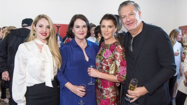 Naughty and nice: Lisa Hili, Kirstie Clements, Melissa Karlson and David Bush.