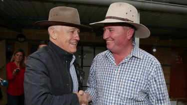 Prime Minister Malcolm Turnbull and Deputy Prime Minister Barnaby Joyce on the campaign trail in New England.