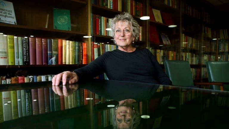 Feminist academic Germaine Greer.