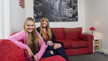 Dyslexic student Georgia Roberton, pictured with her mother Melissa, received specialist tutoring and is now full of confidence in her final year of school.