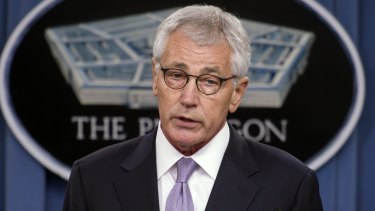 Out: US Defence Secretary Chuck Hagel has reportedly been forced out of his job after he criticised the government's campaigns in Afghanistan and Syria.
