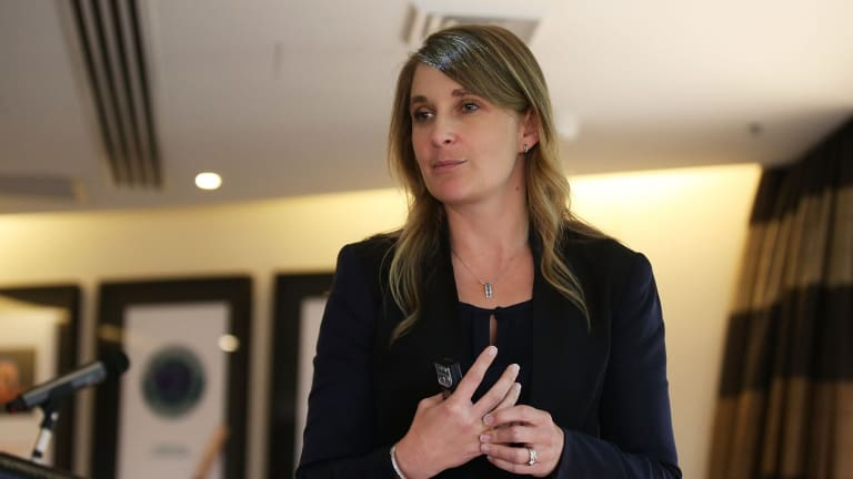 CBA's Kelly Bayer Rosmarin says the bank would support a price on carbon in the 'medium term'.