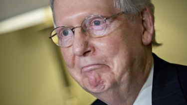 Senate Majority Leader Mitch McConnell: The coup de grace came from Washington where the Senate Republicans rejected the House bill on tax reform, demanding a delay in corporation tax cuts until 2019.