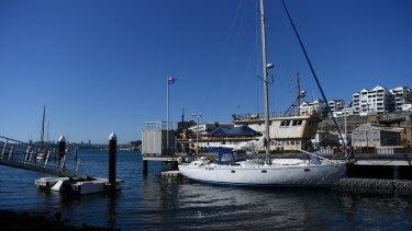 The Elakha.berthed at the Australian Border Force base at Neutral Bay, Sydney.