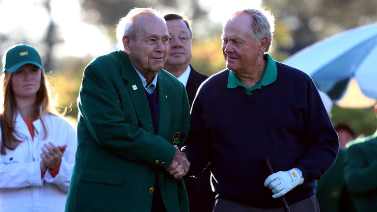 Fierce rivalry: Arnold Palmer and Jack Nicklaus had arguably the fiercest rivalry in golf history.