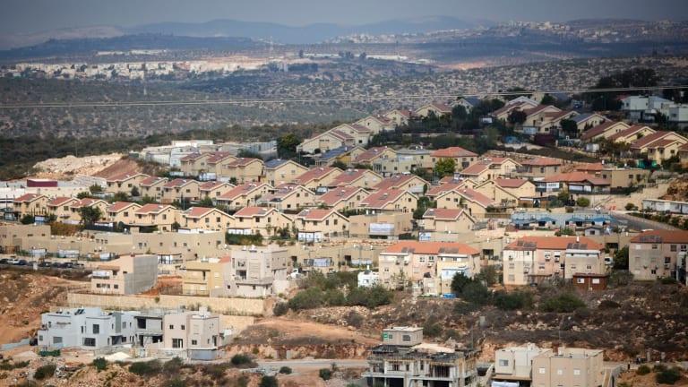 The Israeli settlement of Revava, near the West Bank city of Nablus.