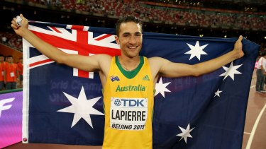 Long jumper Fabrice Lapierre has turned his fortunes around with a silver medal at the world championships.