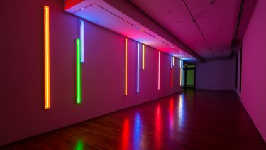 Australian Peter Kennedy's <i>Neon Light Installations</I>.